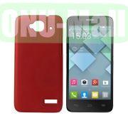 Simple Design Coated Oil Hard Case for Alcatel One Touch Idol Mini  OT-6012X  OT-6012W (Red)