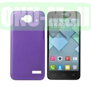 Simple Design Coated Oil Hard Case for Alcatel One Touch Idol Mini  OT-6012X  OT-6012W (Purple)