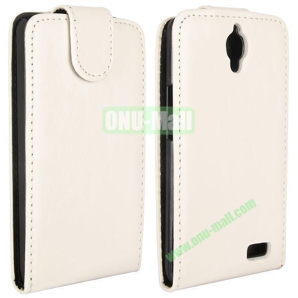 Vertical Flip Magnetic Leather Case for Alcatel One Touch Idol  OT-6030D (White)