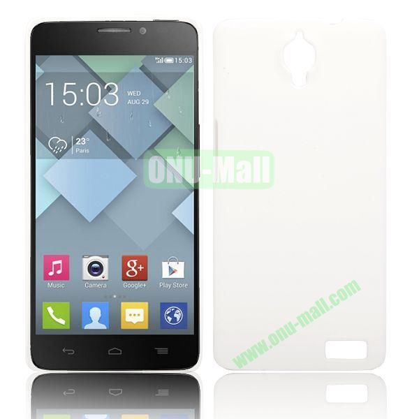 Solid Color Smooth Oil Hard Case for Alcatel One Touch Idol X  6040  6040A  6040D  6040E (White)