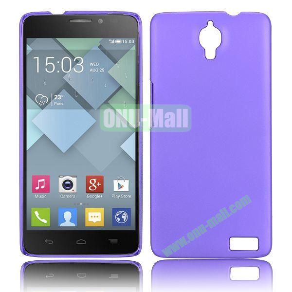 Solid Color Smooth Oil Hard Case for Alcatel One Touch Idol X  6040  6040A  6040D  6040E (Purple)