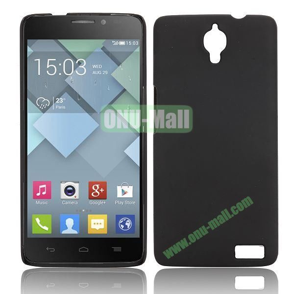 Solid Color Smooth Oil Hard Case for Alcatel One Touch Idol X  6040  6040A  6040D  6040E (Black)
