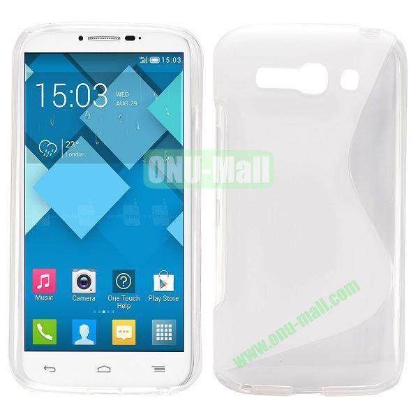 S-Shape Design TPU Case for Alcatel One Touch POP C9 Dual  7047D (Transparent)