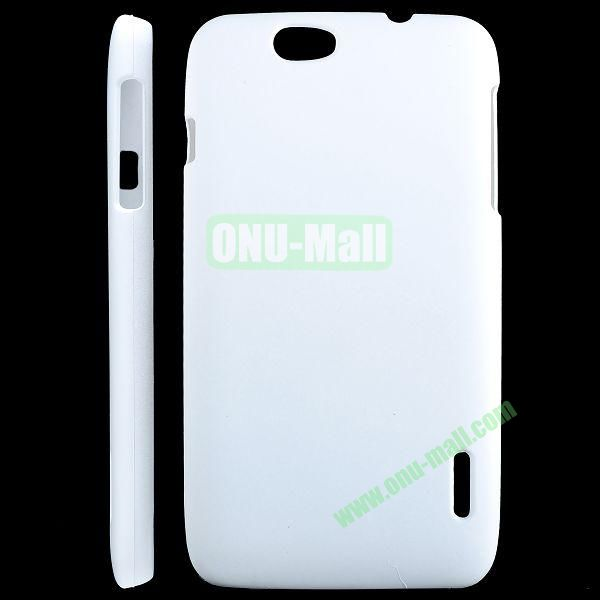 Solid Color Hard Case for Alcatel OT 986 (White)