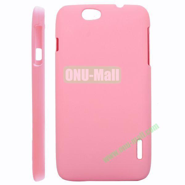 Solid Color Hard Case for Alcatel OT 986 (Pink)