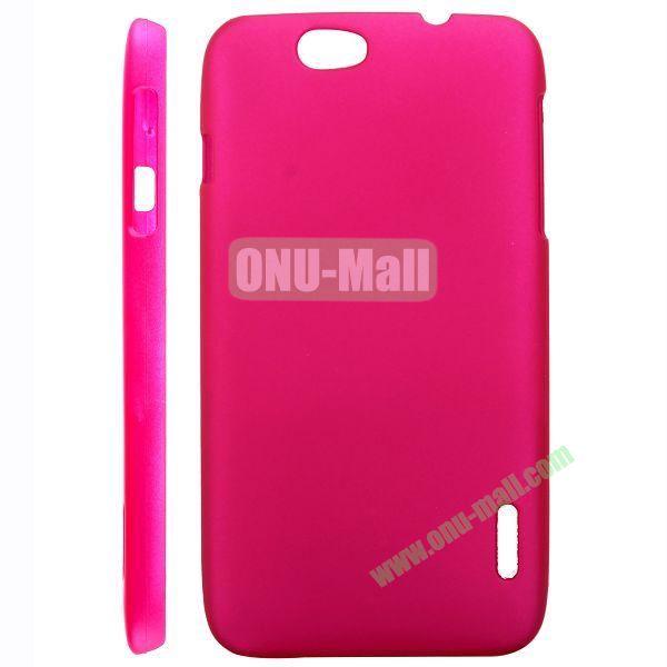 Solid Color Hard Case for Alcatel OT 986 (Rose)