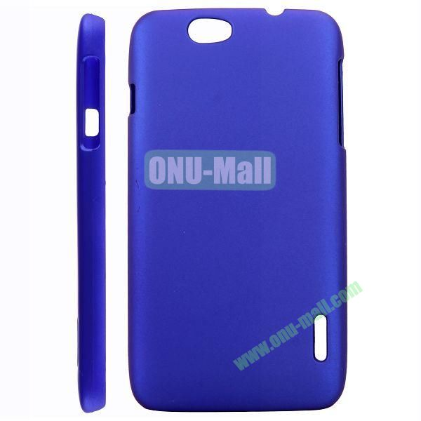 Solid Color Hard Case for Alcatel OT 986 (Dark Blue)