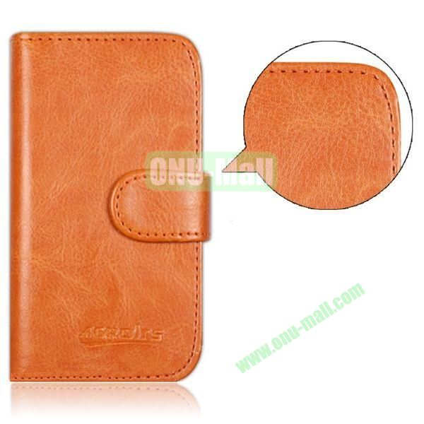 Crazy Horse Texture Leather Case for Alcatel One Touch Idol Mini  6012X  6012A  6012D  6012E  6012W with Card Slots (Orange)