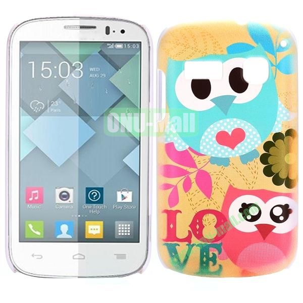 Special Pattern PC Hard Case for Alcatel One Touch Pop C3 (Cute Owls)