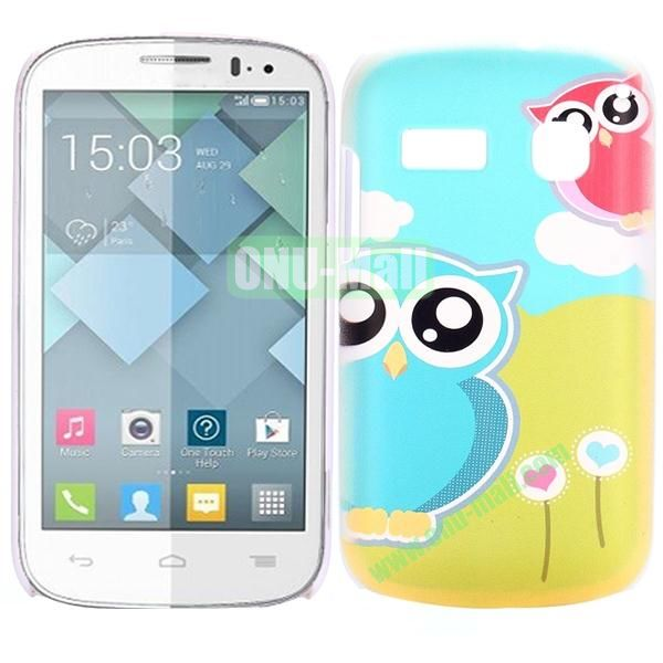 Special Pattern PC Hard Case for Alcatel One Touch Pop C3 (Lovely Owls)