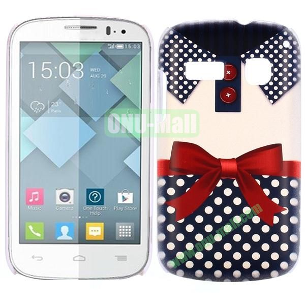 Special Pattern PC Hard Case for Alcatel One Touch Pop C3 (Dark Blue T-shirt)