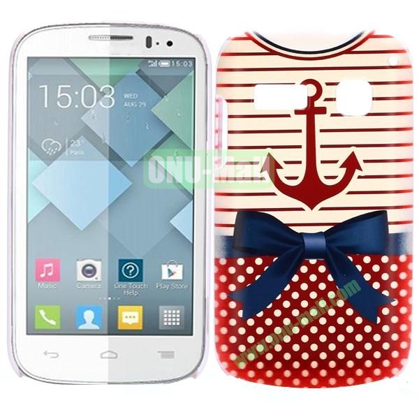 Special Pattern PC Hard Case for Alcatel One Touch Pop C3 (Red T-shirt)