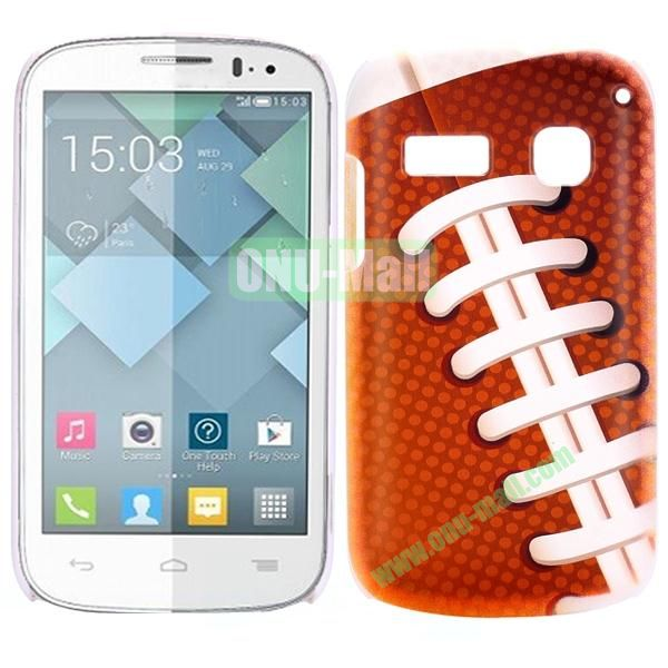 Special Pattern PC Hard Case for Alcatel One Touch Pop C3 (Shoeslace)
