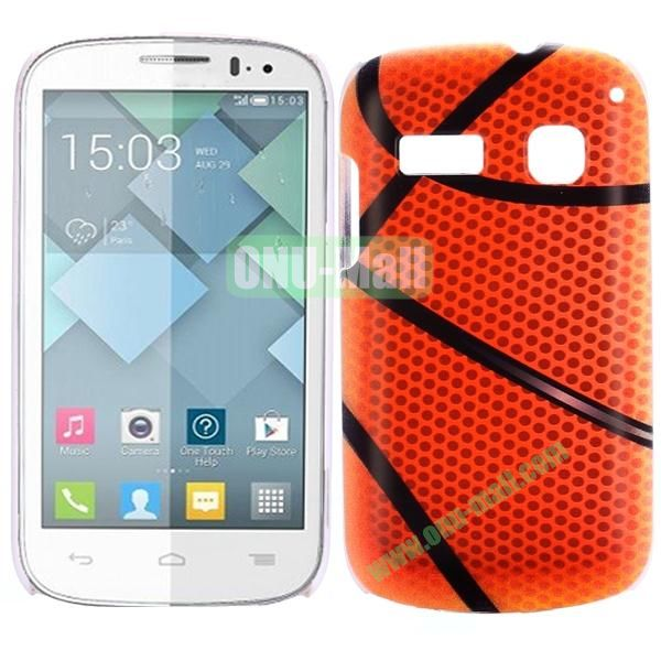 Special Pattern PC Hard Case for Alcatel One Touch Pop C3 (Basketball)