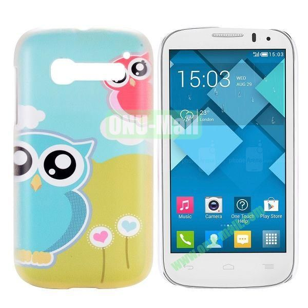 Cute Two Owls Pattern Hard Case for Alcatel One Touch Pop C5