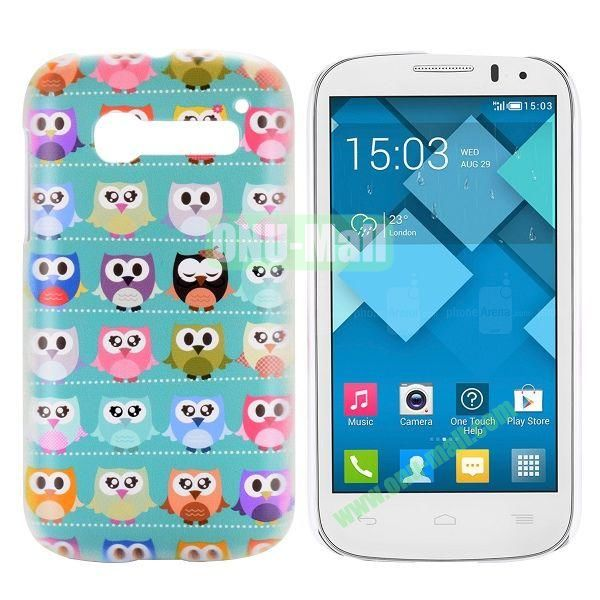 Colorful Owls Pattern Hard Case for Alcatel One Touch Pop C5