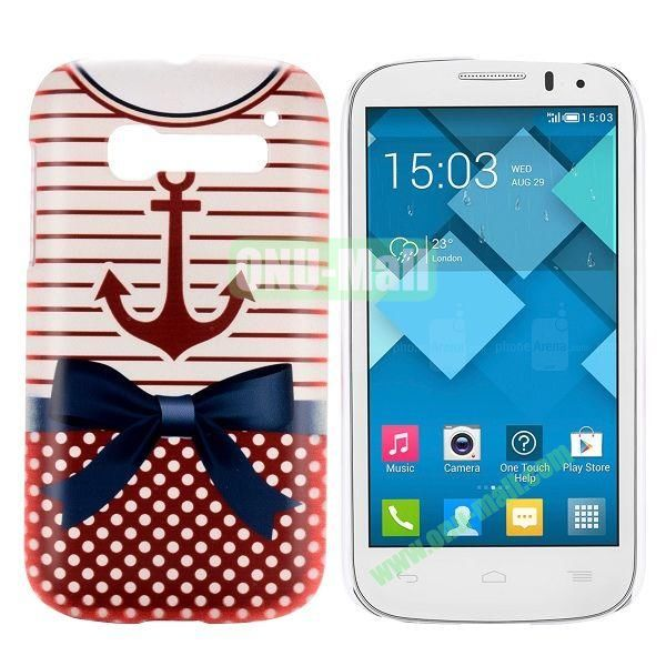 Red-T Shirt Pattern Hard Case for Alcatel One Touch Pop C5