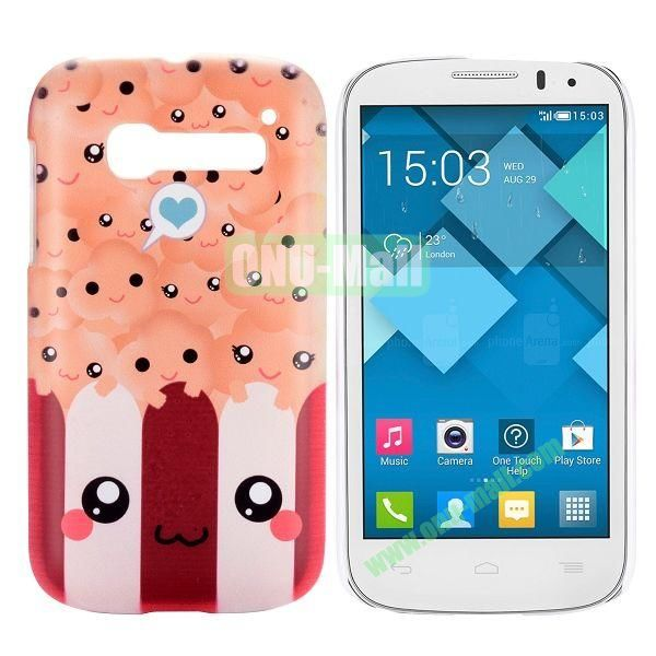 Lovely Cartoon Pattern Hard Case for Alcatel One Touch Pop C5