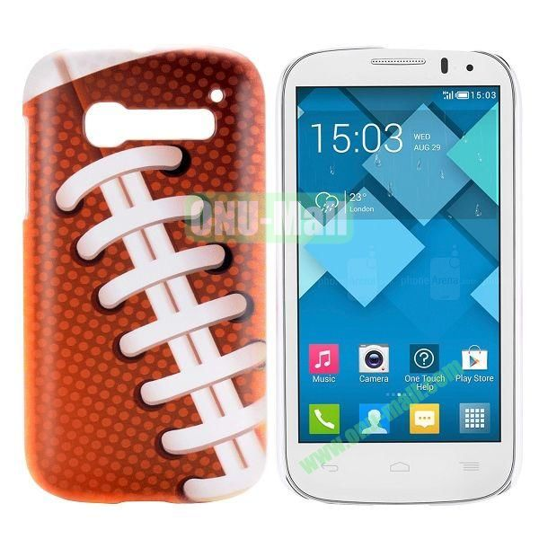 Shoelaces Pattern Hard Case for Alcatel One Touch Pop C5