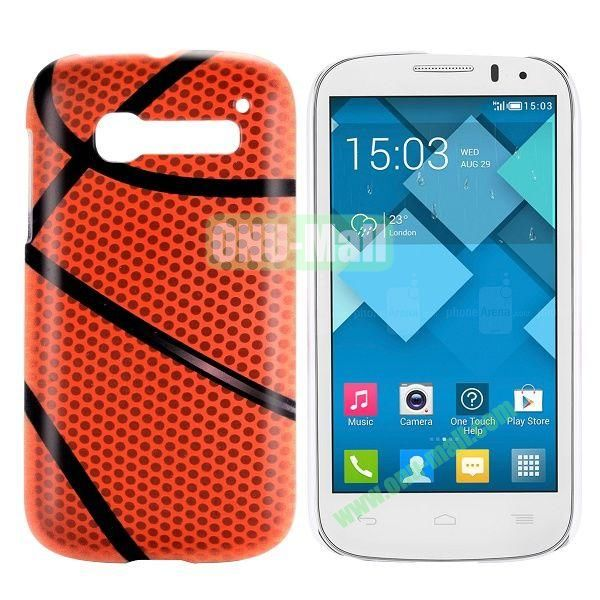 Basketball Pattern Hard Case for Alcatel One Touch Pop C5