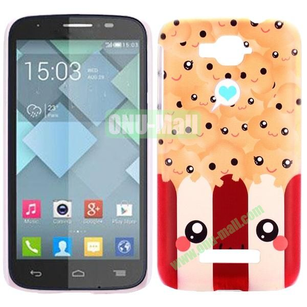 Personality Hard Plastic Back Case Cover for Alcatel One Touch Pop C7 (Cute Cartoon)