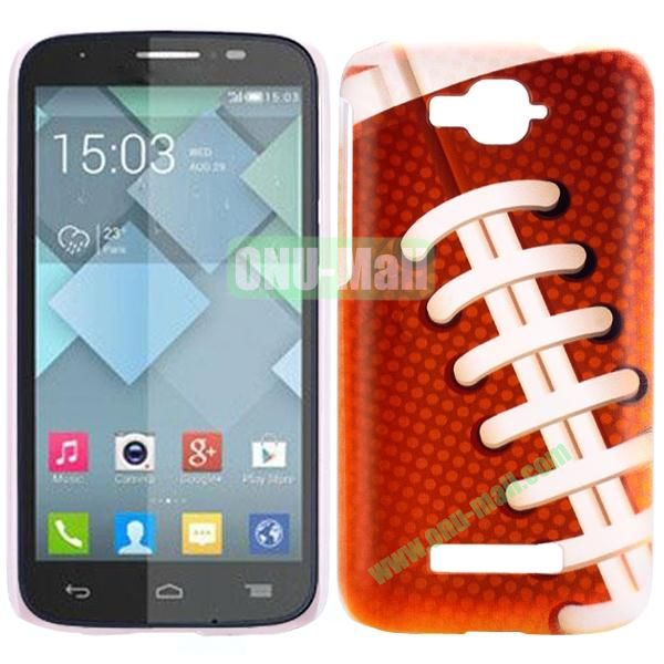 Personality Hard Plastic Back Case Cover for Alcatel One Touch Pop C7 (Shoe lace)