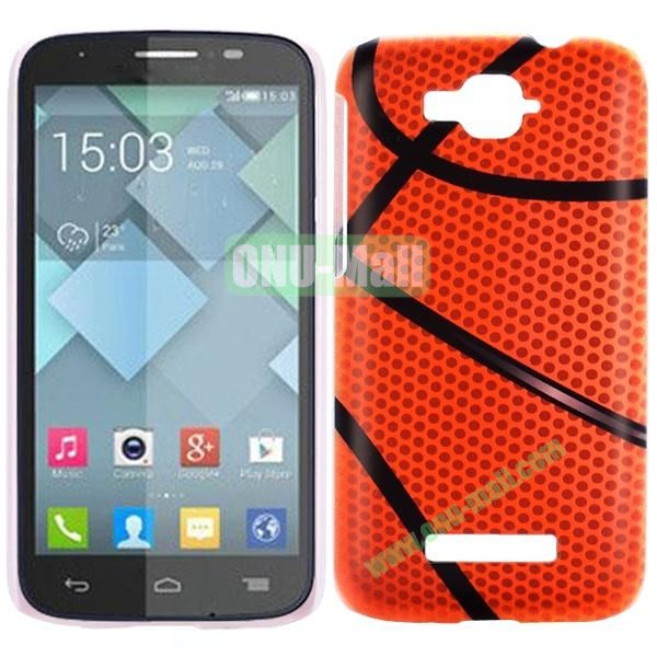 Personality Hard Plastic Back Case Cover for Alcatel One Touch Pop C7 (Basketball)
