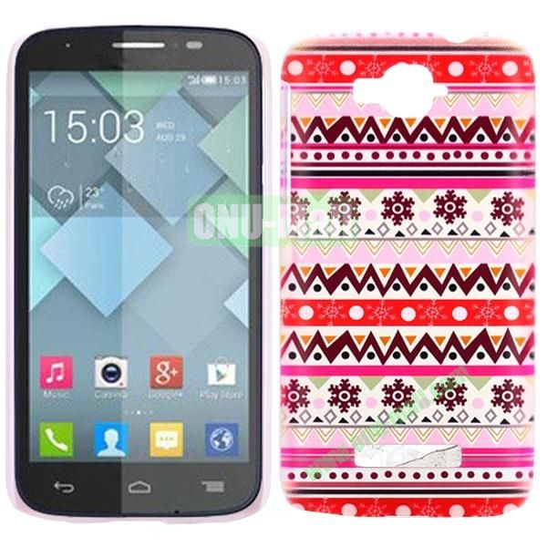 Personality Hard Plastic Back Case Cover for Alcatel One Touch Pop C7 (Pretty Tribal)