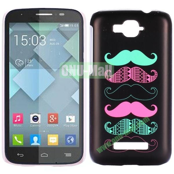 Personality Hard Plastic Back Case Cover for Alcatel One Touch Pop C7 (Colorized Moustache)