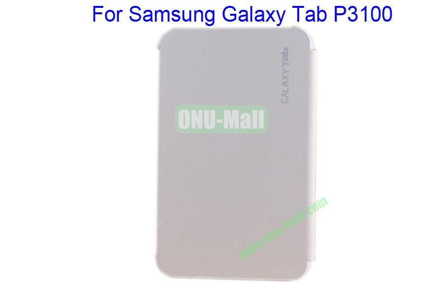 Offical Style Business Affairs Type Leather Case Cover with PC Back Cover for Samsung GALAXY Tab P3100(White)