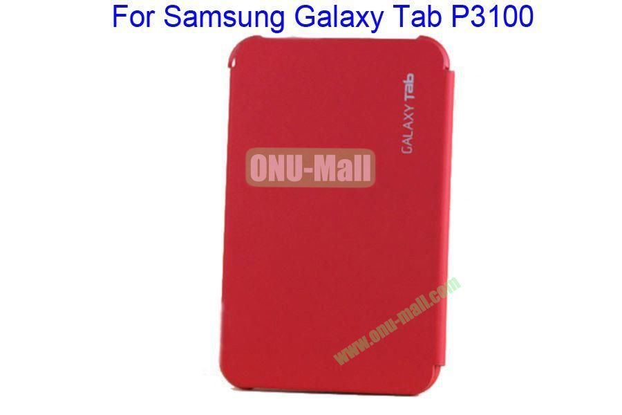 Offical Style Business Affairs Type Leather Case Cover with PC Back Cover for Samsung GALAXY Tab P3100(Red)