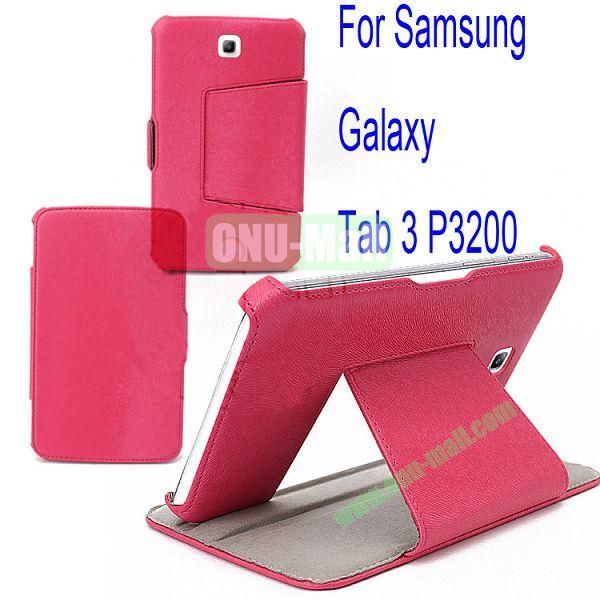 Litchi Lines Leather Case Cover for Samsung Galaxy Tab 3 P3200 With Bolster(Rose)