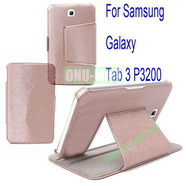 Litchi Lines Leather Case Cover for Samsung Galaxy Tab 3 P3200 With Bolster(Pink)