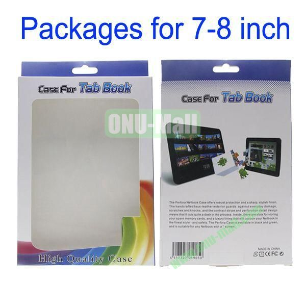 Retail Paper Color Box Packages for iPad MiniGalaxy Note 8.0Google Nexus 7Samsung Galaxy Tab P3100Asus Fonepad7-8 inch Tablets