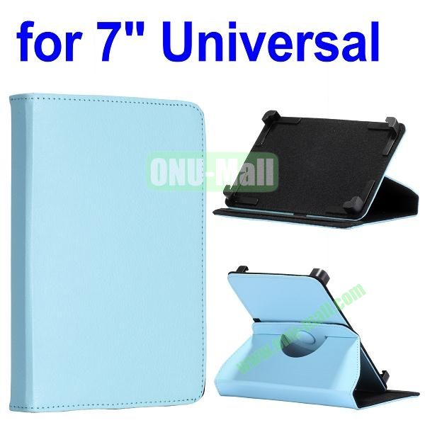 360 Degree Rotate with Elastic Belt Leather Case for 7 inch Tablet PC (Blue)