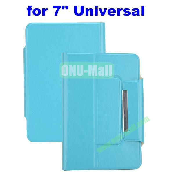 Crazy Horse Texture Magnetic Universal Flip Leather Case for 7 inch Tablet PC with Card Slots (Blue)