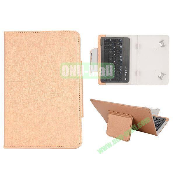 7 inch Tablet PC Bluetooth Keyboard Leather Case (Orange)