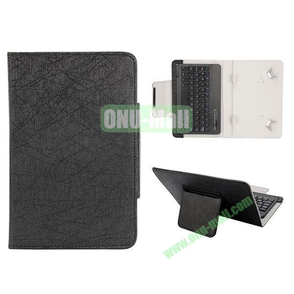 7 inch Tablet PC Bluetooth Keyboard Leather Case (Black)