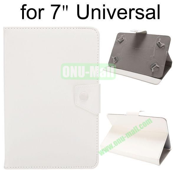 Universal Magnetic Flip Leather Case Cover for 7 inch Tablet PC with Adjustable Elastic Belt Corners (White)
