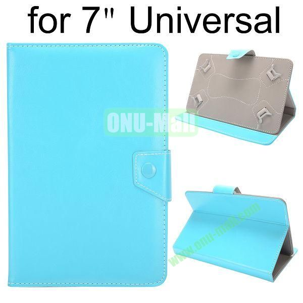 Universal Magnetic Flip Leather Case Cover for 7 inch Tablet PC with Adjustable Elastic Belt Corners (Light blue)