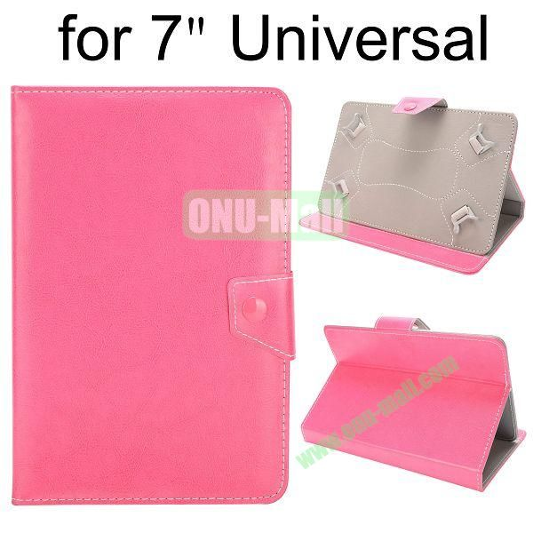 Universal Magnetic Flip Leather Case Cover for 7 inch Tablet PC with Adjustable Elastic Belt Corners (Pink)