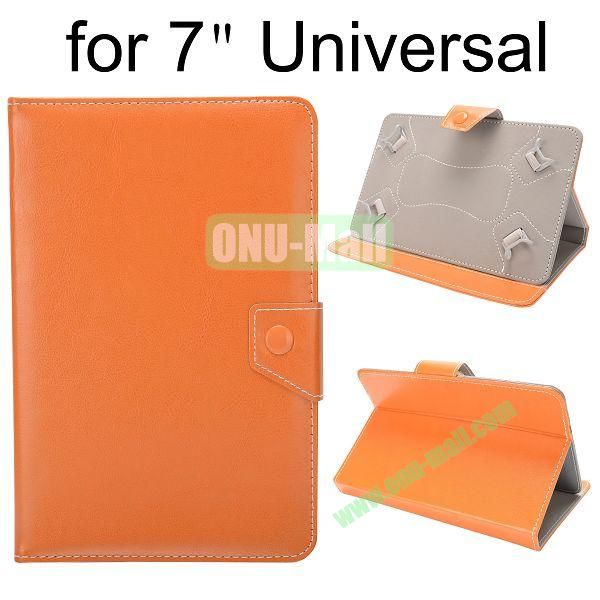 Universal Magnetic Flip Leather Case Cover for 7 inch Tablet PC with Adjustable Elastic Belt Corners (Orange)