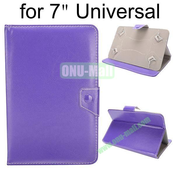 Universal Magnetic Flip Leather Case Cover for 7 inch Tablet PC with Adjustable Elastic Belt Corners (Purple)