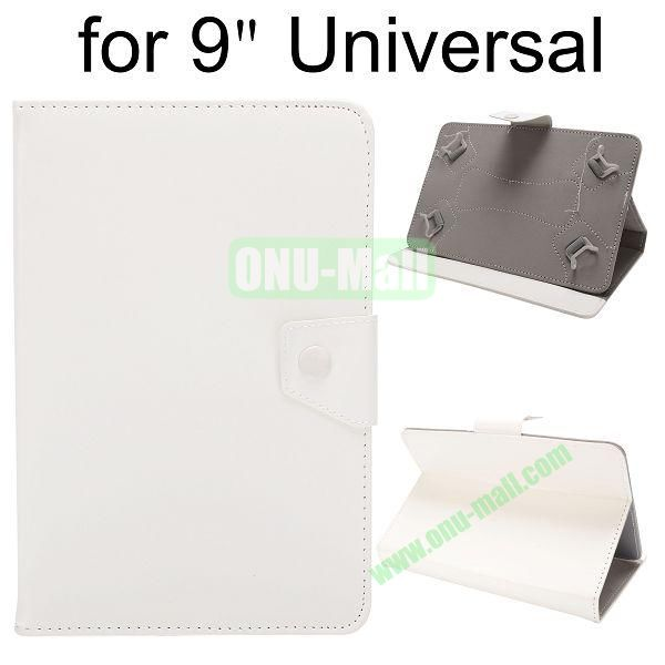 Universal Magnetic Flip Leather Case Cover for 9 inch Tablet PC with Adjustable Elastic Belt Corners 9 ( White )