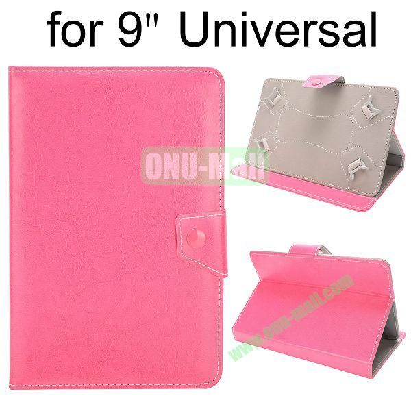 Universal Magnetic Flip Leather Case Cover for 9 inch Tablet PC with Adjustable Elastic Belt Corners 9 ( Pink )