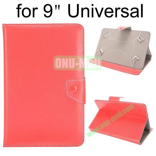Universal Magnetic Flip Leather Case Cover for 9 inch Tablet PC with Adjustable Elastic Belt Corners 9 ( Red )