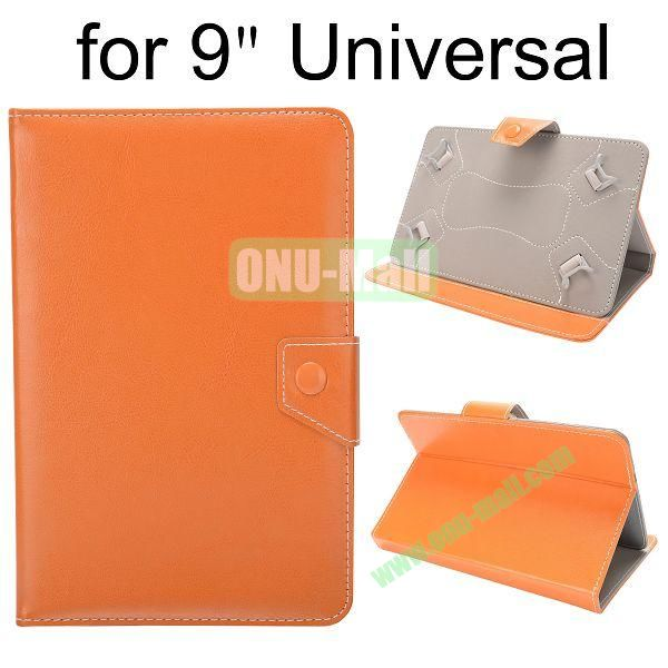 Universal Magnetic Flip Leather Case Cover for 9 inch Tablet PC with Adjustable Elastic Belt Corners 9 ( Yellow )