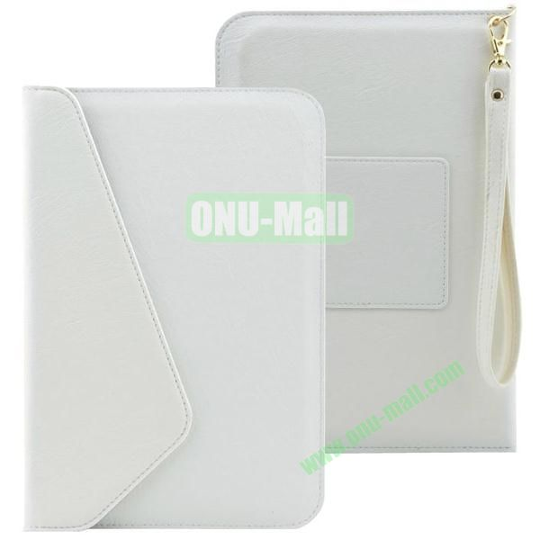 Universal Leather Pouch Bag for 7 & 8 Inch Tablet PC with Lanyard (White)