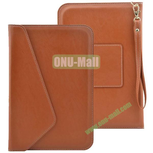 Universal Leather Pouch Bag for 7 & 8 Inch Tablet PC with Lanyard (Brown)
