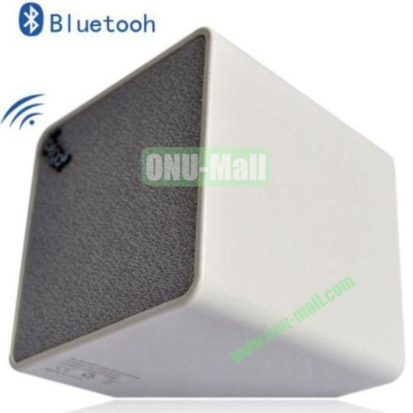 High Quality Cube Bluetooth Speaker for iPhone 4SiPhone 5iPhone 5SiPad 2iPad 4The New iPadiPhone 5C(White)